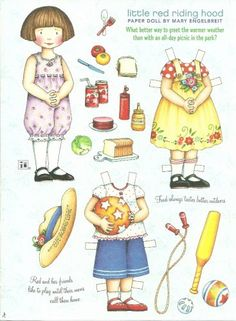 LITTLE RED RIDING HOOD Mary Engelbreit Magazine Paper Dolls Picnic in the park