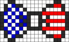American Flag Perler Bead Bow
