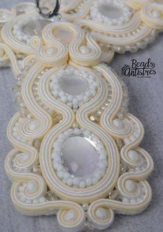 Beads Antistres soutache earings (wedding)..5/2018