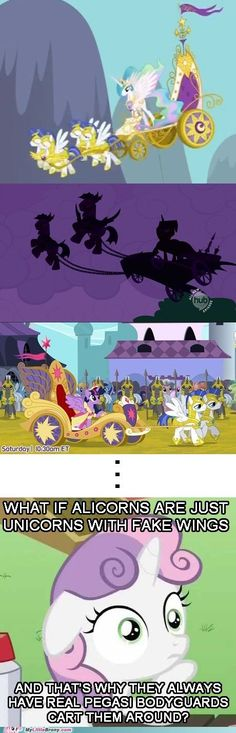 Except for Cadence, who just gets thrown around by Shining Armor