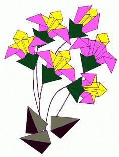 Esquemas de origami - a Natureza (Iris Applique)