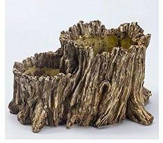 Image result for driftwood garden pot