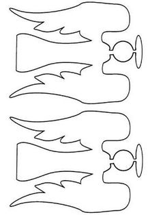 angel template - make into a folded 'banner' joining tips of wings and side edge by mae