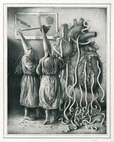 Sverre Malling · Flagellants/Suprematist Heart · 2014 · 63 x 55 cm