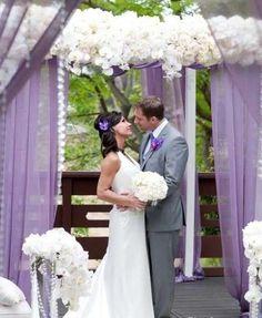 Decoración boda en tonos lavanda: fotos ideas originales - Decoración boda en blanco y lavanda