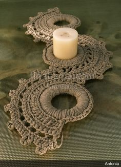 Fine Badia knit studio – My Wedding Dream Crochet Rings, Crochet Diy, Crochet Motifs, Crochet Mandala, Crochet Bracelet, Crochet Home, Love Crochet, Crochet Crafts, Crochet Doilies