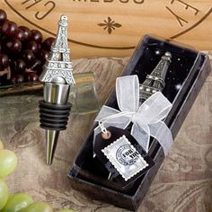 Eiffel Tower Bottle Stopper Favors | French Theme Wedding Favors
