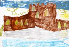 Julia Robinson, age 5, received a commendation for her drawing of Carrickfergus Castle.