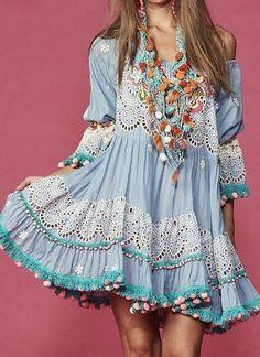 "Estilo hippie - moda look"" mariabunita"" - Moda Hippie, Moda Boho, Boho Chic, Bohemian Style, Vintage Bohemian, Short Beach Dresses, Sexy Dresses, Boho Outfits, Fashion Outfits"