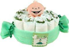 Pea pod diaper cake.