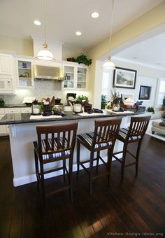 I like the way this kitchen opens up into the family room