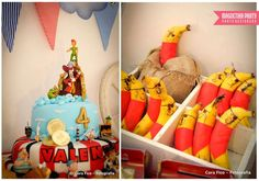 Fun cake and pirate bananas at a Jake and the Neverland Pirates birthday party! See more party ideas at CatchMyParty.com!