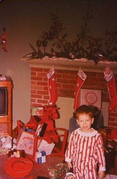 Retro Christmas...hope this kid loves red!