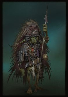 Goblin Knight by Even Amundsen - Your Daily Dose of Amazing beautiful Creativity and Digital Art - Fantasy Characters: Archers Assassins Astronauts Boners Knights Lovers Mythology Nobles Scholars Soldiers Warriors Witches Wizards Fantasy Rpg Games, Fantasy Races, High Fantasy, Fantasy Warrior, Sci Fi Fantasy, Fantasy Characters, Dnd Characters, Fantasy Character Design, Character Art