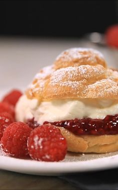 "As impressive as they are delicious, these beautiful raspberry cream puffs elevate the end of every meal. By using ""fresh from the freezer"" Oregon raspberries you can enjoy this decadent dessert year-round!"
