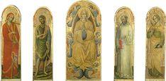 Assunzione della Vergine e i santi Elena, Giovanni Battista, Benedetto ed Elisabetta, Jacopo Moranzone  Gallerie dell'Accademia di Venezia