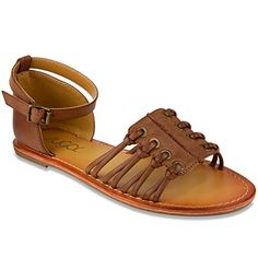 Sugar Women's Primrose Sandal * Quickly view this special product, click the image : Strappy sandals Leather Slippers, Dark Tan, Girls Sandals, Womens Flip Flops, Cheap Shoes, Huaraches, Strappy Sandals, Flip Flop Sandals, Designer Shoes