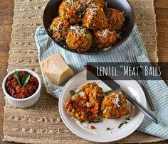 """Vegetarian Lentil """"Meat"""" Balls"""