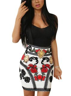 Fvogue Low Cut Patchwork Slim Above knee Bodycon Dress