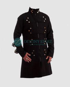 punk coat heavy gothic coat Gothic jacket Hellraiser Dark Goth Coat Gothic Steampunk Jacket Punk Vampire Men Long Coat bondage jackets