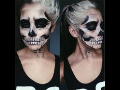 Halloween Skull Makeup Tutorial // Jamie Genevieve - this is so rad and easy to follow. Jeff doing this