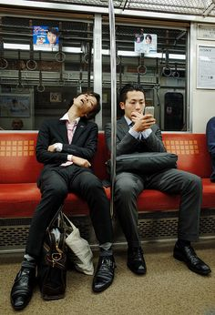 Morning commute into Tokyo