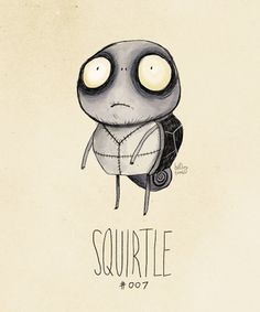 They're all very very cool!! Pokémon Characters Re-Drawn In Tim Burton's Signature Style - DesignTAXI.com
