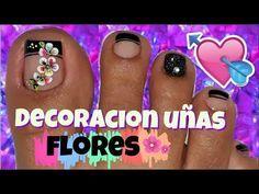 ♥Decoración de Uñas Pies Elegante/♥Chic Feet Nail Decoration - YouTube
