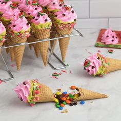 Pinata Cookies, Pinata Cake, Ice Cream Birthday Cake, Ice Cream Party, Birthday Cookies, Watermelon Ice Cream, Cupcake Cake Designs, Hot Chocolate Gifts, Yummy Ice Cream