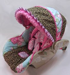 Custom Rose Divine/Leopard Infant Car Seat by smallsproutsbaby, $155.00