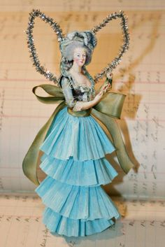 Marie Antoinette, taking paper dolls to a whole new level