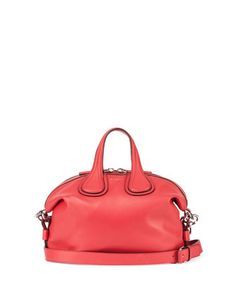 Nightingale Small Waxy Leather Satchel Bag, Bright Red by Givenchy at Neiman Marcus.
