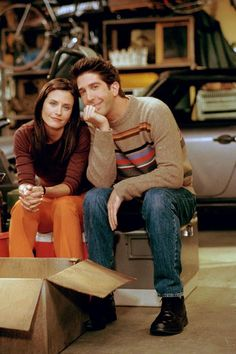 David Shwimmer with Courteny Cox