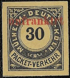 + 1888 Mulheim Deutz Cologne NRW Germany 30pf Private Local Postage Due Ovp.MH