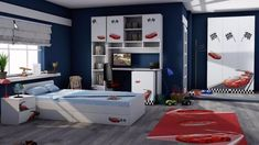 Imaginea Camera tineret Racer Entryway, Loft, Furniture, Home Decor, Entrance, Decoration Home, Room Decor, Door Entry, Mudroom