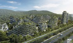 """Stefano Boeri Architetti designed the first """"Forest City"""" in China, which is now under construction Liuzhou, Guangxi Province."""