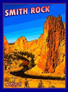 Smith-Rock-State-Park-Oregon-United-States-America-Travel-Poster-Advertisement