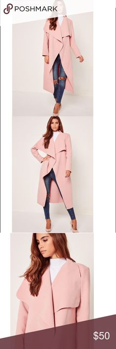 ffb5c18da859a Plus Size Oversized Pink Waterfall Duster Coat Go for this all dreamy pink  duster coat!