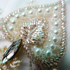 #bridal #fashion   a little #Sunday #bling #tambour #beading #handembroidery…