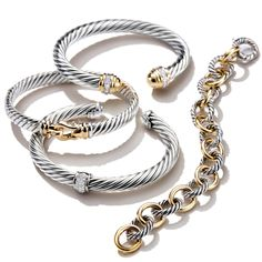 David Yurman bracelets are designed to layer and stack together beautifully.