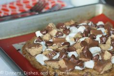 CAN DO WITH STOREBOUGHT DOUGH! Loaded Chocolate Cookie Pizza