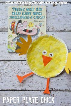 Tissue & Paper Plate Chick Kid Craft Tutorial For Easter - Spring Crafts For Kids Spring Crafts For Kids, Paper Crafts For Kids, Book Crafts, Easter Crafts, Spring Crafts For Preschoolers, Easter Art, Jar Crafts, Chicken Crafts, Chicken Art