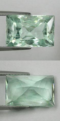 Beryl 110789: 9.75 Ct Ultra Rare Mind Plea Green Natural Beryl - Aquamarine Octagon ! BUY IT NOW ONLY: $119.99