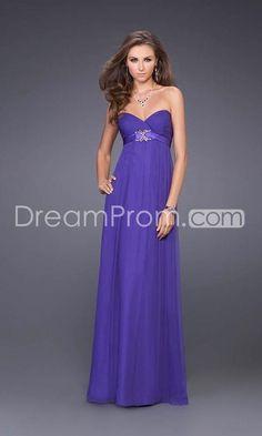 Luxurious Chiffon Strapless Sweetheart Neckline Floor-length Evening Prom Dresses L14