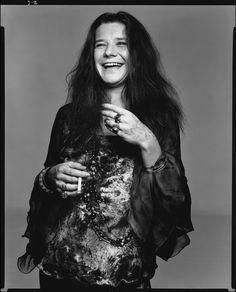 Janis Joplin, singer, Port Arthur, Texas, August 28, 1969 - Photo by Richard Avedon.