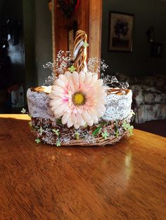 my shabby chic flower girl basket