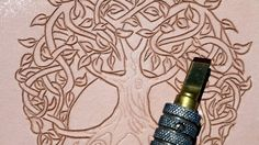 Magic Box - part 1 - Leather carving and tooling of Celtic Tree of Life