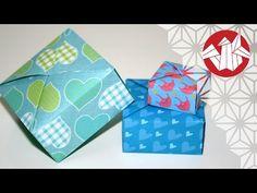 Origami - Boîte éventail de Tomoko Fuse - Fancy box [Senbazuru] - YouTube