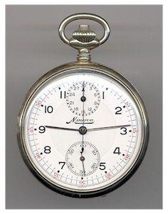 "Scarce Swedish Army ""Minerva"" Chronograph Pocket Watch. 1930's"