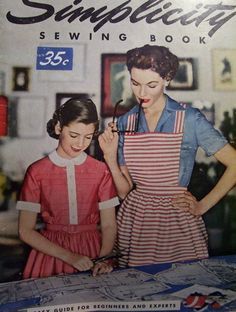 Vintage Simplicity sewing book with a darling chart for helping you determine what color suits you best. #vintage #sewing #DIY $10